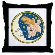 Over The Moon Chow Chow Throw Pillow