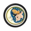 Over The Moon Chow Chow Wall Clock